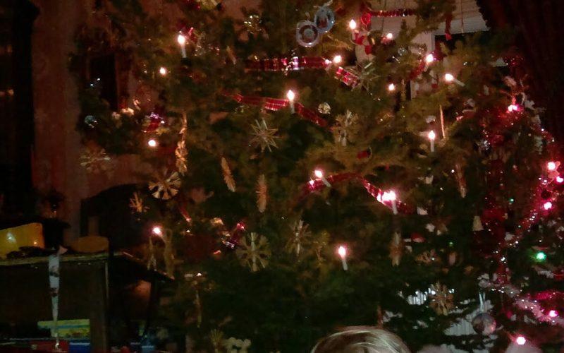 jouluperinne joulukuusen viereen nukkumaan