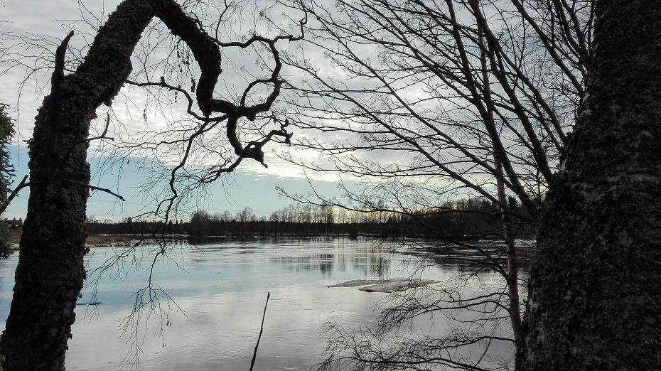 huhtikuu joella