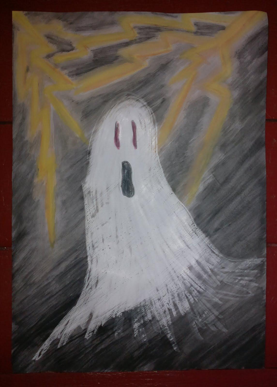 Askartele kummitustaulu Halloween-juhliin