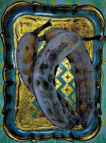 mustuneiden banaanien käyttö