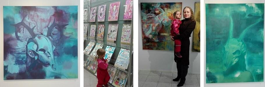 Taidenäyttelyissä lapsen kanssa: julkkiksia ja pohjoista valoa