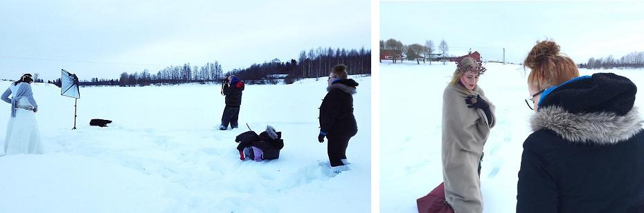 Fantasiakuvausta valkoisen lumen keskellä!