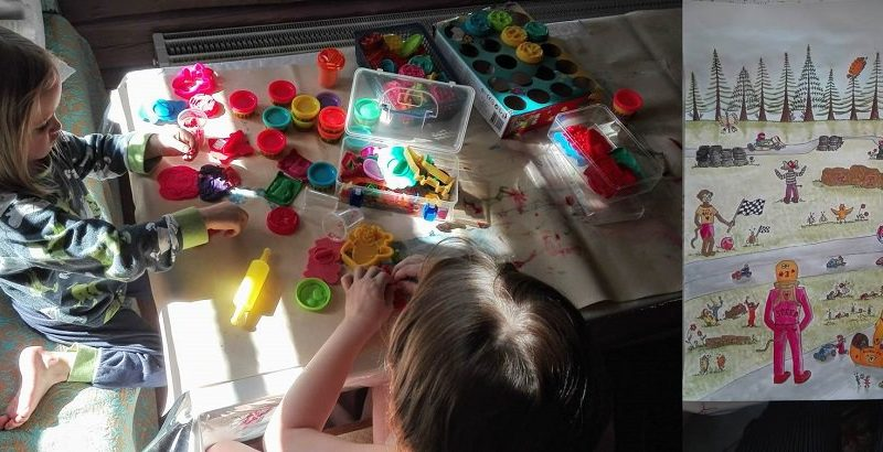 Taiteilua lasten kanssa