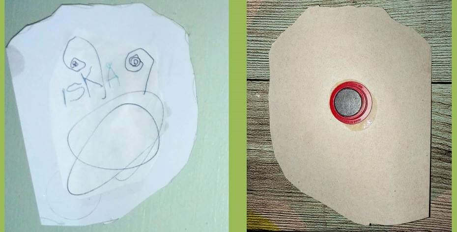 askartele isänpäiväksi magneetti kierrätysmateriaalista