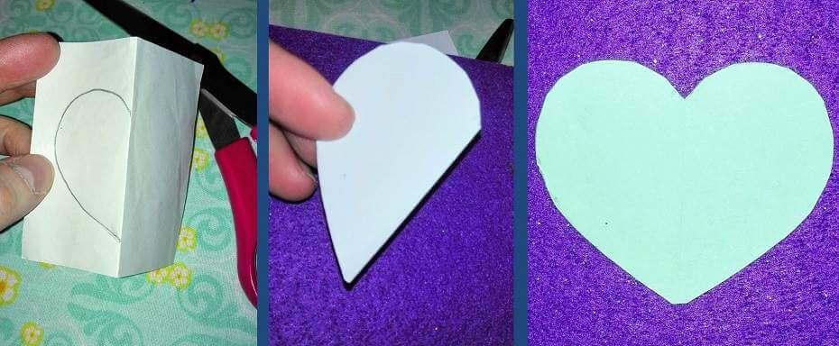 askarteluvinkki symmetrinen sydän