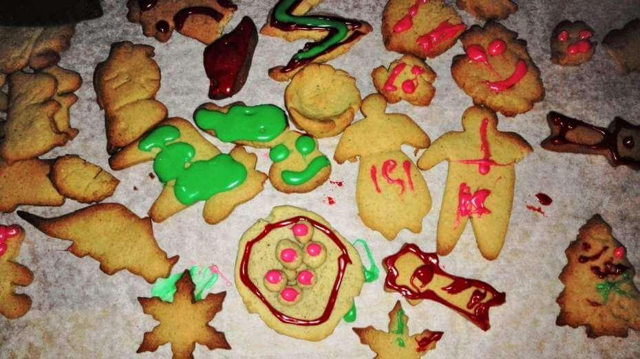 lasten tekemiä joulupipareita