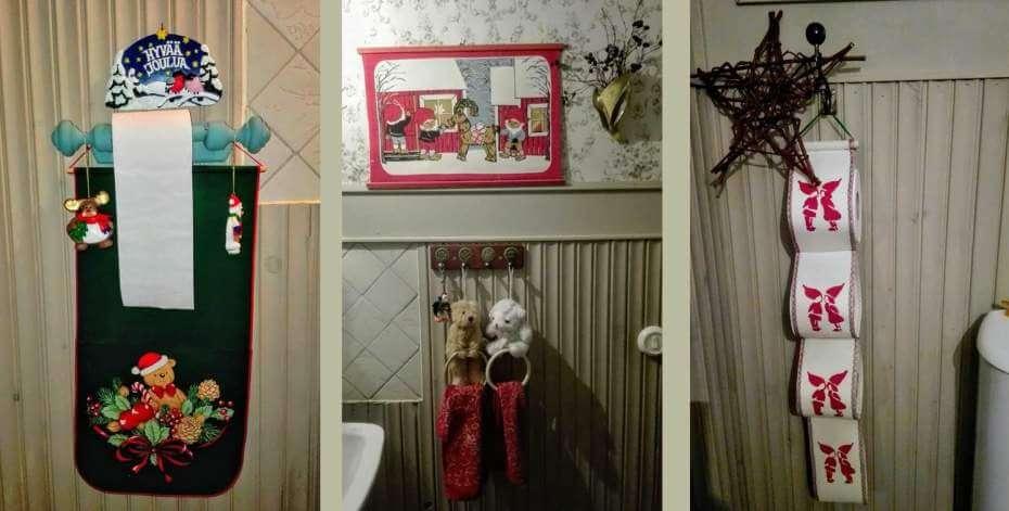 joulukodin sisustus wc