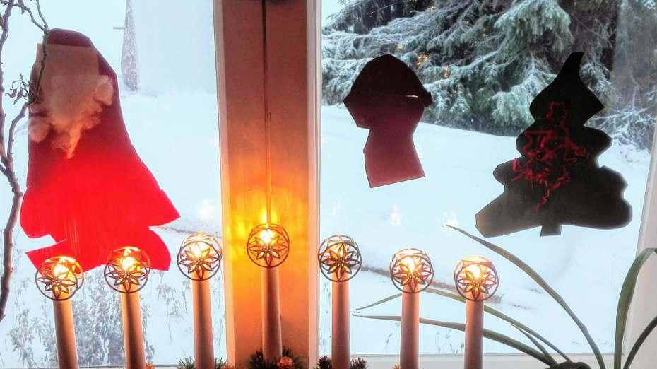 lasten tekemät joulukoristeet