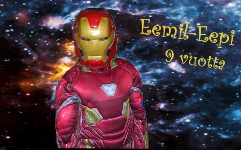 Iron Man naamiaissynttäreillä