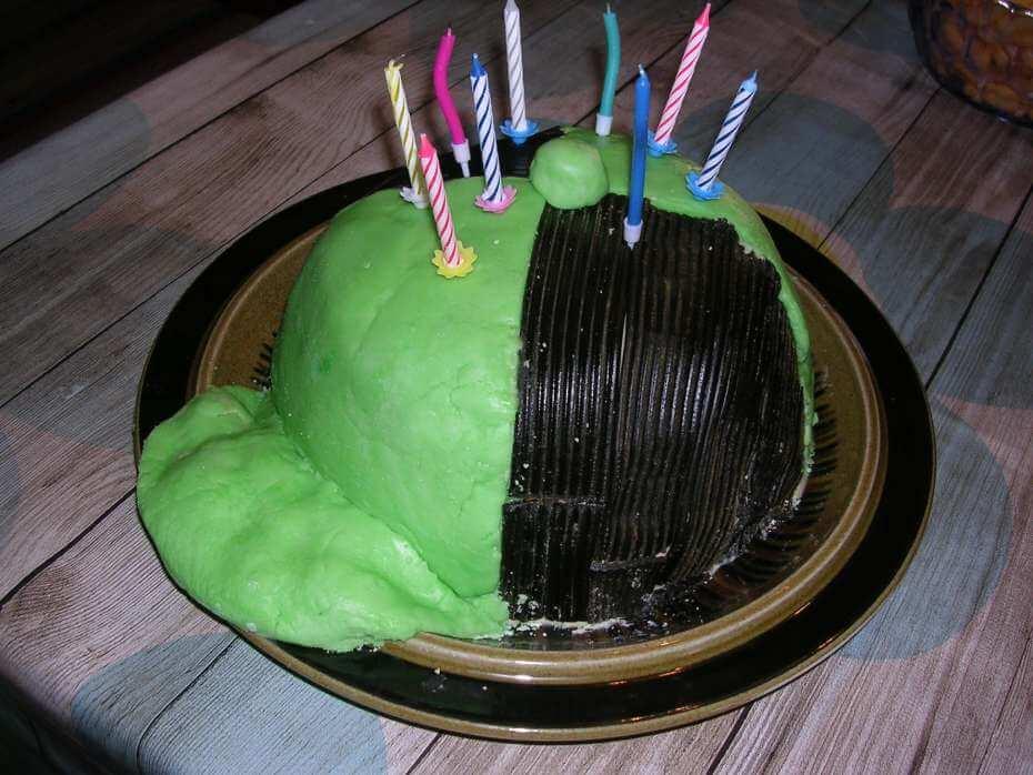Syökää hattua! Lippalakin mallisen syntymäpäiväkakun ohje