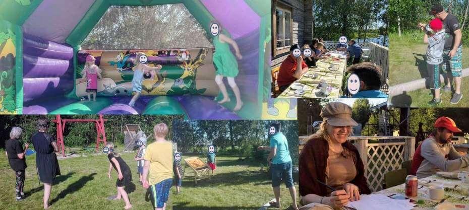 Ohjelmaa pihajuhliin: pihaolympialaiset, palju, pomppulinna
